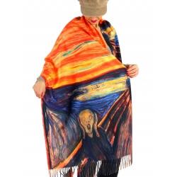 Écharpe étole femme laine XXL LE CRI MUNCH