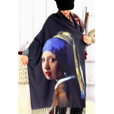 Écharpe étole femme laine XXL FILLE A LA PERLE Écharpe femme