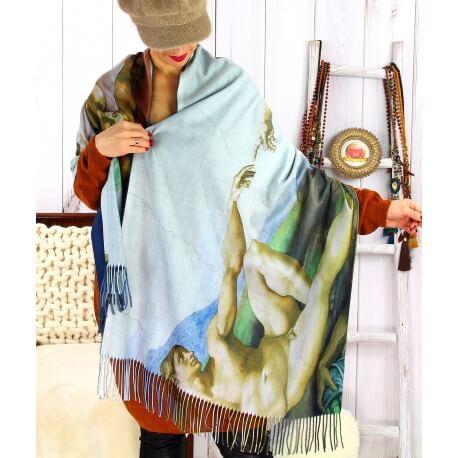 Écharpe étole femme laine XXL MICHEL ANGE 1 Écharpe femme