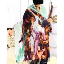 Écharpe étole femme laine XXL MICHEL ANGE 2 Écharpe femme