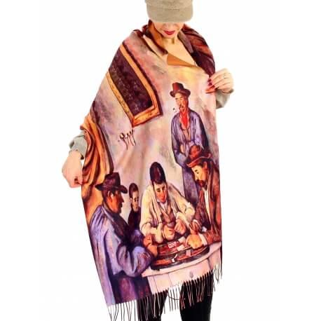 Écharpe étole femme laine XXL JOUEURS CEZANNE-Écharpe femme-CHARLESELIE94