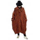 Manteau long femme grande taille laine PIALA Rouille-Manteau femme grande taille-CHARLESELIE94