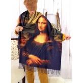 Écharpe étole femme laine XXL LA JOCONDE VINCI Écharpe laine femme