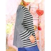 Tunique femme grande taille volantée ZEBRA Gris-Tunique femme grande taille-CHARLESELIE94