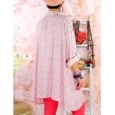 Chemise longue femme grande taille coton KIKOU Rose-Chemise femme grande taille-CHARLESELIE94