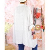 Chemise longue femme grande taille coton KIKOU Blanc-Chemise femme grande taille-CHARLESELIE94