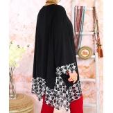 Tunique longue grande taille DIAMANT Graphiques Noire-Tunique femme grande taille-CHARLESELIE94