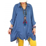 Chemise longue femme grande taille coton MELUA Jean