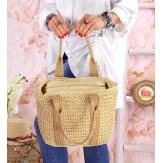 Sac cabas paille et jute tressée B61 Naturel-Accessoires mode femme-CHARLESELIE94