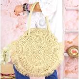 Grand sac cabas paille raphia fait main B53 Naturel Accessoires mode femme