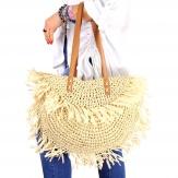 Sac cabas paille raphia fait main B47 Naturel-Accessoires mode femme-CHARLESELIE94