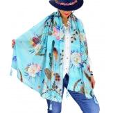 Foulard châle écharpe pompons été imprimé 57 Foulard femme