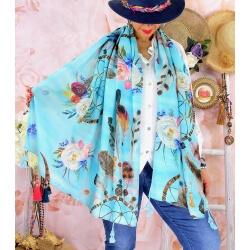 Foulard châle écharpe pompons été imprimé 57-Foulard femme-CHARLESELIE94