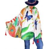 Foulard châle écharpe pompons été imprimé 56-Foulard femme-CHARLESELIE94