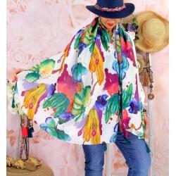 Foulard châle écharpe pompons été imprimé 62