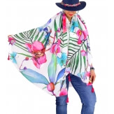 Foulard châle écharpe pompons été imprimé 58 Foulard femme