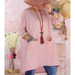 Robe tunique bohème grande taille coton NORA Rose