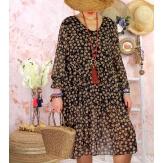 Robe tunique grande taille mousseline MELODY graphique Robe tunique femme