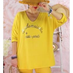 Tunique tee shirt femme grande taille MADO Jaune