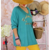 Tunique tee shirt femme grande taille MADO Vert jade