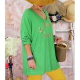 Tunique tee shirt femme grande taille MADO Vert