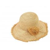 Chapeau capeline raphia fait main CH07 Naturel-Chapeau paille femme été-CHARLESELIE94
