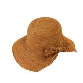 Chapeau capeline raphia fait main CH06 Camel Chapeau paille femme été