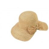 Chapeau capeline raphia fait main CH06 Naturel Chapeau paille femme été