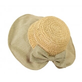 Chapeau capeline paille fait main CH41 Naturel