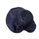 Chapeau capeline paille fait main CH41 Bleu-Chapeau paille femme été-CHARLESELIE94