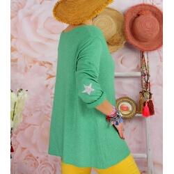 Tunique pull grande taille printemps AQUILA Vert