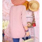 Tunique pull grande taille printemps TAURUS Rose-Pull tunique femme-CHARLESELIE94