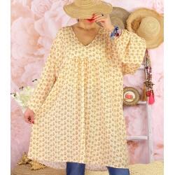 Robe tunique bohème grande taille WINDY Beige-Robe tunique femme grande taille-CHARLESELIE94