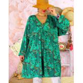 Robe tunique bohème grande taille SIERRA Vert