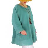 Tunique femme grande taille + collier OPHELIA Jade