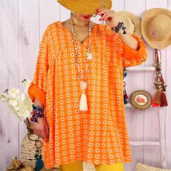 Tunique longue grande taille tencel NEA Orange-Tunique femme grande taille-CHARLESELIE94
