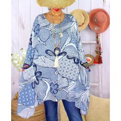 Tunique longue grande taille tencel LISETTE Blanc-Tunique femme grande taille-CHARLESELIE94