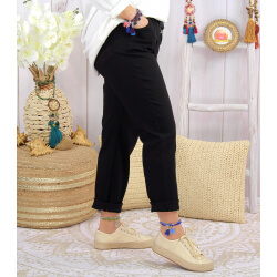 Pantalon femme grande taille strech LIPA Noir
