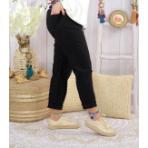 Pantalon femme grande taille stretch LIPA Noir Pantalon femme grande taille