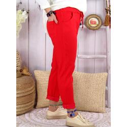 Pantalon femme grande taille strech LIPA Rouge