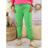 Pantalon femme grande taille stretch LIPA Vert Pantalon femme grande taille