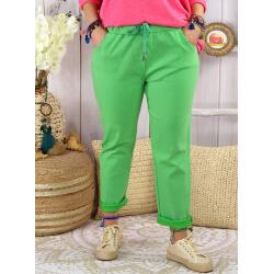 Pantalon femme grande taille strech LIPA Vert