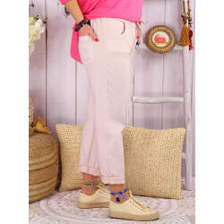 Pantalon femme grande taille strech LIPA Rose