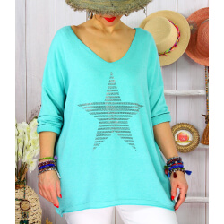 Tunique pull grande taille printemps WILLIAM vert