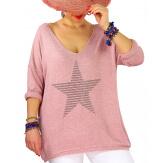 Tunique pull grande taille printemps WILLIAM Rose-Pull tunique femme-CHARLESELIE94