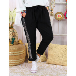 Pantalon jogg femme grande taille strech EVIANE Noir