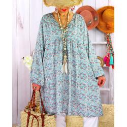 Robe tunique grande taille liberty bohème DIABOLO Bleu