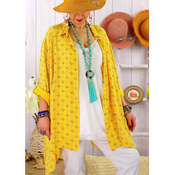 Chemise femme grande taille liberty FRUTTI Jaune