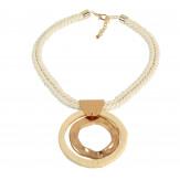 Gros collier ethnique bohème corde raphia été C140-Accessoires mode femme-CHARLESELIE94