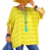 Tunique grande taille été graphique OASIS Jaune-Tunique femme grande taille-CHARLESELIE94